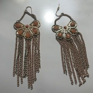 Jewelry - Peach and gold earrings